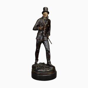 Kaltbemalte Spelter Figur von Dapper Gentleman