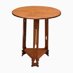 Lampada da tavolo Arts & Crafts in quercia