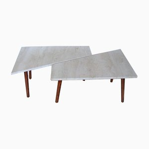 Travertine Tables, 1970s, Set of 2