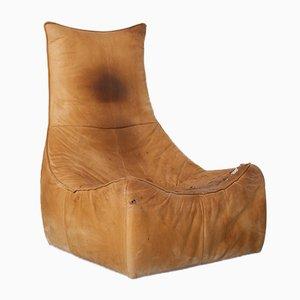 Monisal Caramel Lounge Chair by Gerard Van Den Berg for Montis