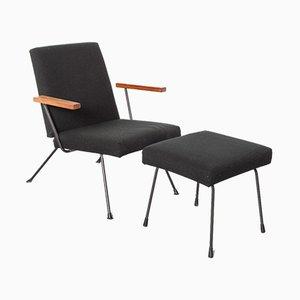 1409 Sessel und 1801 Fußhocker von AR Cordemeyer für Gispen, 2er Set
