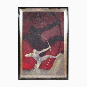 Heracles de Bourdelle, olio su tela, con cornice