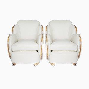 Art Deco Cloud Stühle, 2er Set