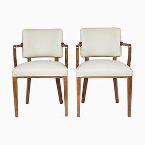 Art Deco Schreibtischstühle, 2er Set