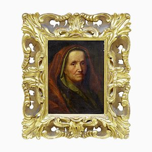 18th Century Oil on Board of Lady Attributed to Balthasar Denner, Framed