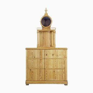 19th Century Swedish Pine Kitchen Cupboard