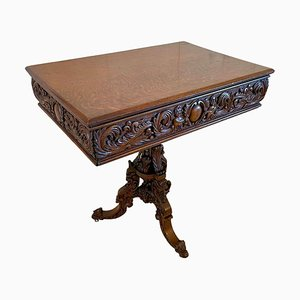 Victorian Carved Oak Centre Table