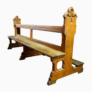 Antique Oak Church Benches, Early 1900s