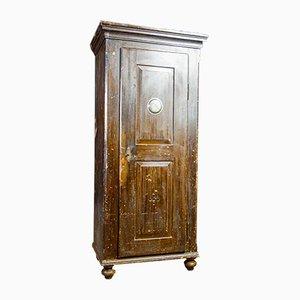 Alacena Brocante de una puerta en marrón, siglo XIX