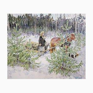 Georgij Moroz, Back Home, 1996, óleo sobre lienzo