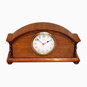 Small Oak Mantel Clock