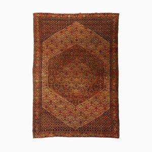 Tappeto Senneh geometrico con bordo e medaglione