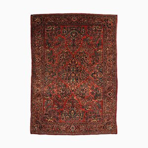 Floral Re-Import Sarough Rug with Central Medallion and Border