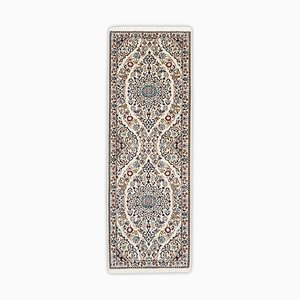 Floral Nain Runner in Beige with Border