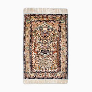Floral Isfahan Rug with Border and Paradise Garden Pattern