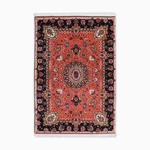Tapis Floral Tabriz avec Bordure et Médaillon