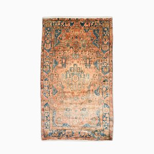 Nahavand Rug in Pink with Border and Medallion