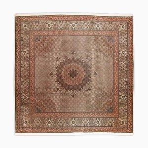 Gemusterter Tabriz Teppich in Braun mit Medaillon und Rand