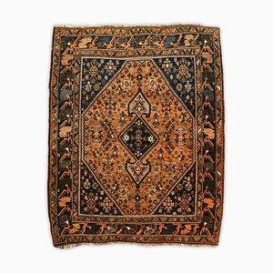 Geometrischer Kordi Teppich in Terrakotta mit Medaillon
