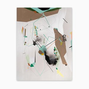 Dannielle Tegeder, Escapement Mechanism, Cross Sections of Permeability and Lightness, 2018, Acrylic on Canvas