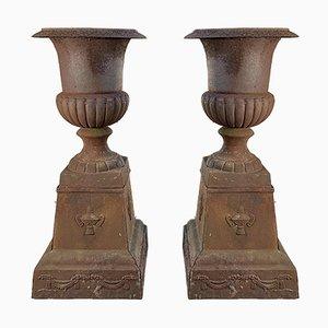 Large Antique Victorian Cast Iron Planter