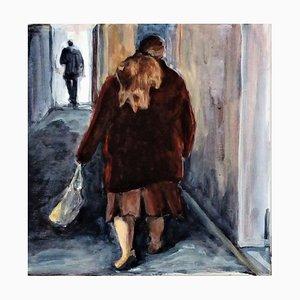 Carole Leprince, Le Manteau Rouge, 2021, acrilico su tela