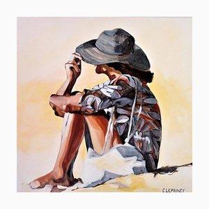 Carole Leprince, Le Chapeau, 2021, acrilico su tela