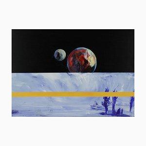 Sławomir Kuszczak, Czerna on the Banks of Odra River, 2021, Acrylic on Canvas