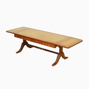 Tavolino da caffè allungabile in mogano con ripiano in pelle di Bevan Funnell