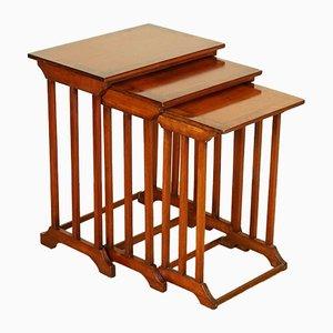 Tavolini ad incastro in mogano, set di 3
