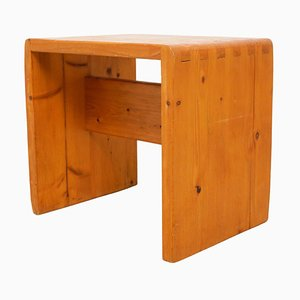 Pine Wood Stool by Charlotte Perriand for Les Arcs