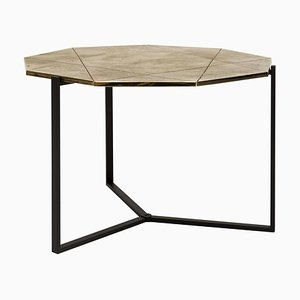 Side Table Pivot T82 Limited Edition Ristretto / Brass by Peter Ghyczy