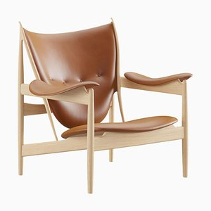 Chieftain Armchair in Wood and Leather by Finn Juhl
