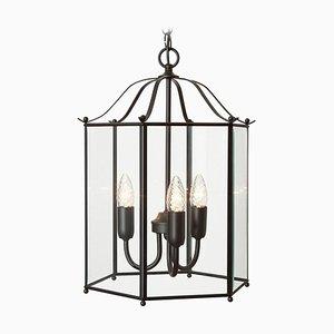 Lampada da soffitto Glimminge a tre braccia in ottone nero di Konsthantverk