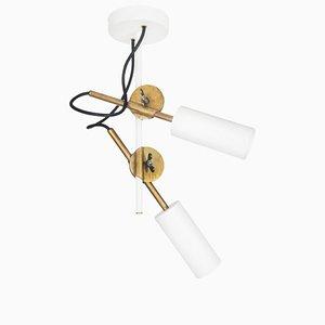 Lámpara de techo Stake Spot 2 en blanco de Johan Carpner para Konsthantverk