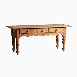 Table de Préparation Victorienne en Pin