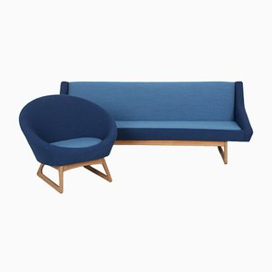 Danish Sofa and Armchair by Kurt Østervig für Rolschau Møbler, Set of 2