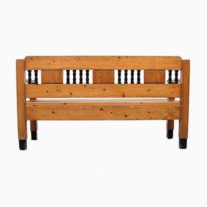 Art Nouveau Pine Bench