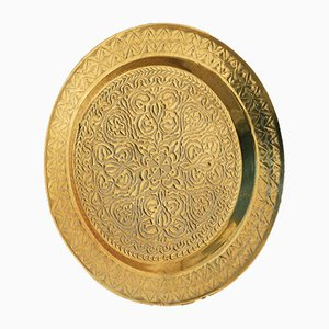 Decorative Brass Charger, 1960s