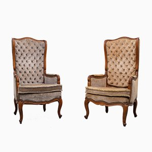 Small Louis XV Padded Armchairs, Set of 2