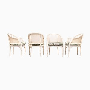 Faux Bamboo Chinese Chippendale Armchairs, 1970s, Set of 4