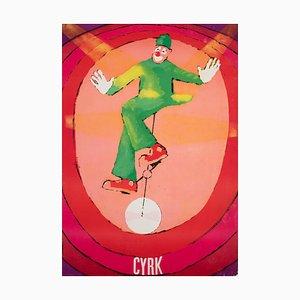 Polnisches Vintage Cyrk Zirkusplakat von Jacek Neugebauer, 1971