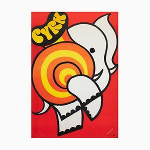 Treutler, Cyrk: Elephant, 1975, Polnisches Zirkusplakat