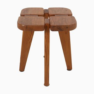 Apila Stool in Pine by Lisa Johansson-Pape for Stockmann Oy, Finland, 1970s