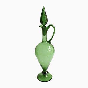 Etruskische Amphore oder Krug aus grünem Glas, Empoli, 1940er