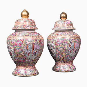 Vasi grandi vintage in ceramica, Cina, anni '40, set di 2
