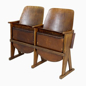 Two-Seater Cinema Bench from TON, 1960s