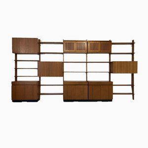 Teak Wall Shelving System by Dieter Wäckerlin for Behr, Germany, 1950s