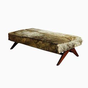 Sofá cama de teca de Pierre Jeanneret