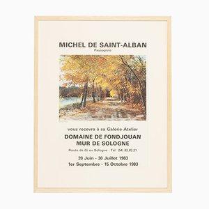 Michel von Saint-Alban, Ausstellungsplakat, gerahmt